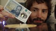 Банкнота вместо грамофонна игла .