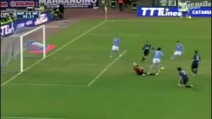Супер гол на Кавани срещу Интер