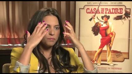 """Genesis Rodriguez Uncut Interview about """"casa de mi Padre""""."""