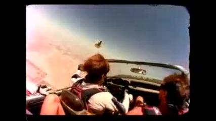 Скачане с парашут в кола