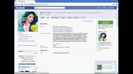 Истинския фейсбук на Селена Гомез