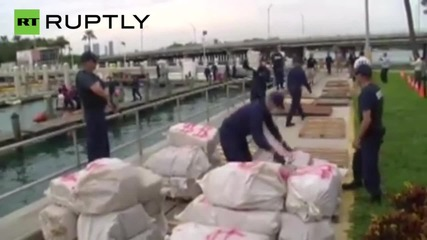 Real Life Miami Vice Seize Over One Ton of Cocaine