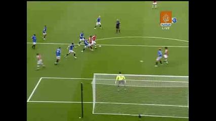 Арсенал - Ренджърс - 1ви гол на Уилшър