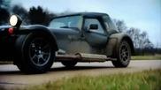 Megane R26r Срещу Caterham Cdx - Fifth Gear