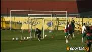 Първа тренировка преди мача с Кипър