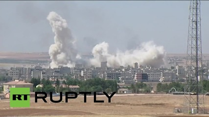 Turkey: Huge explosion rocks Kobane as Kurdish militias reclaim city from IS