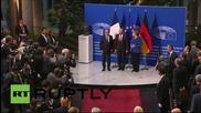 France: Merkel joins Hollande in Strasbourg for EU Parliament address