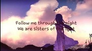 Xandria - Sisters of the light / lyrics video
