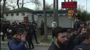 Turkey: Tensions high as protesters continue to gather outside Zaman HQ