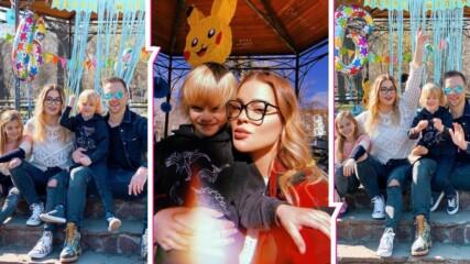 Въпреки отворените заведения: Сем. Джаферович празнува скъп празник в парка, синът им навърши 6 г.