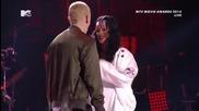 Eminem ft. Rihanna - Monster [ Live at the Mtv awards + Превод ]