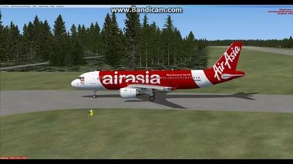 Кацане във Вааса със Airbus A320 Airasia