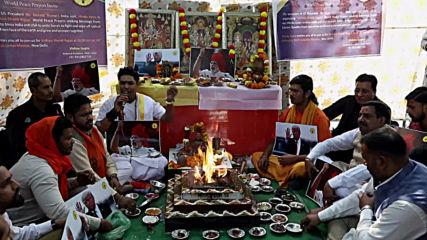 India: Hardliner Hindus hold ritual to help Trump and Modi 'eliminate terrorism'