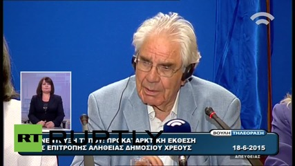 "Greece: Imposed debt ""illegal, illegitimate & odious"" - Hellenic Parliament President"