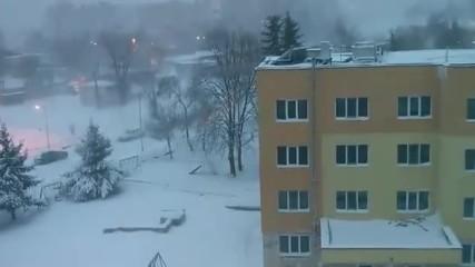 Шумен 07.01.2017 Snow Storm