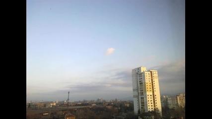 Time lapse - идване на нощта в София 25.2.2014