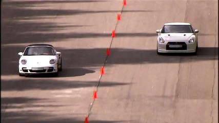 Руска гонка ! Porsche 911 Turbo vs Nissan Gt - R
