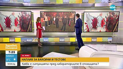 COVID-19: Отново опашка пред една от големите лаборатории в София
