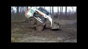 Мини трактор - стои на предните си гуми - смяххх
