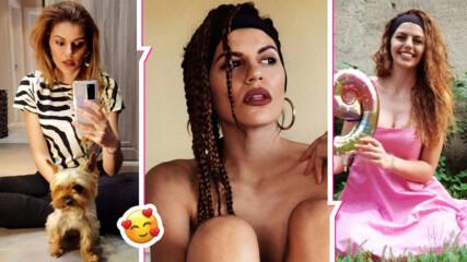 Михаела Филева с интересна прическа и секси снимка