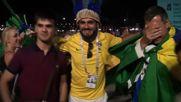 Russia: Euphoric fans celebrate celebrate Brazil Switzerland draw
