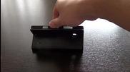 Кожен калъф с магнитна закопчалка за Nokia Lumia 930 - черен
