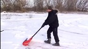 Супер лопата за чистене на сняг