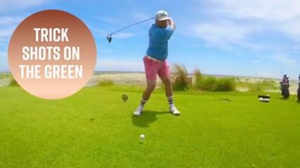 The trick shot golfer of Instagram