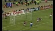 гол на Батистута срещу Арсенал с екипа на Фиорентина в Кеш