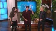 Джъстин и Елън играят Humdinger в The Ellen Show.