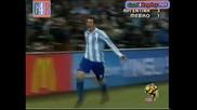 27.06.2010 Аржентина - Мексико 3:1 Всички голове и положения - Мондиал 2010 Юар