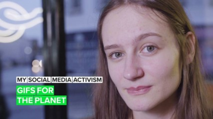 One influencer's quest to help the Earth using GIFs