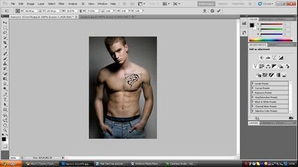 Как да си сложим tattoo c photoshop cs5 [hq]