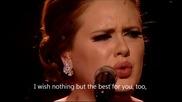Adele - Someone like you Hd Live + Lyrics