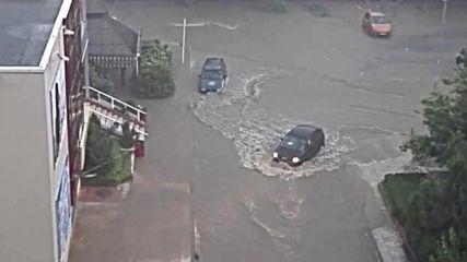 Пороен дъжд удави гр. Сливен
