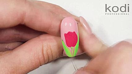 Пролетен гел лак с цвете