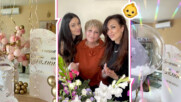 Симона Загорова с пищна погача за малката Галина, гордата баба сподели кадър