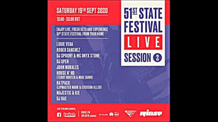 51st State Festival Live Session 2 on Rinse Fm Dj Rae 19-09-2020
