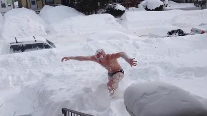 Плуване в сняг