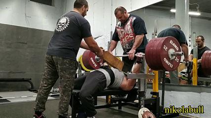 2019.12.27 - Workout V-C SQ 3x153 kg BP8 3x178 kg BP16 3x221 kg Rows 5x140 kg