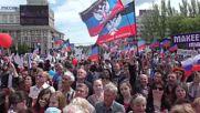 Ukraine: Huge parade marks 2nd anniversary of DPR formation