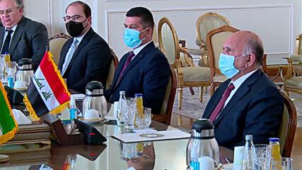 Iran: Zarif meets with Iraqi counterpart Hussein in Tehran