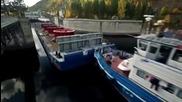 Най-голямата машина за пренасяне на кораби !