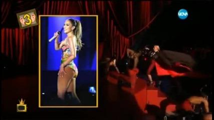 Мадона пада на сцената