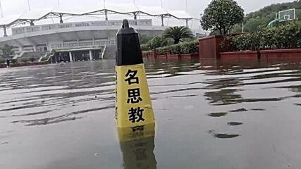 China: City near Shanghai flooded as Typhoon In-Fa makes second landfall