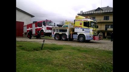 Репатриране на пожарен автомобил Рено от с. Бенковски до сервиза за ремонт 30.10.2014