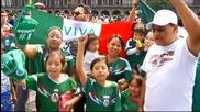 Луда мексиканска радост след равенството с Бразилия