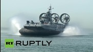 Russia: World's largest hovercraft opens Race of Heroes military sports event