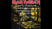 Iron Maiden - Quest for Fire • (lyrics)