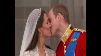 Кралската сватба - Целувката на Уилям и Кейт